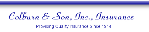 Colburn and Son Insurance, specializing in farm and dog breeders insurance